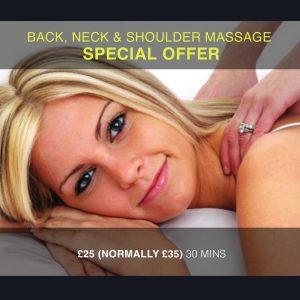 OFFER NOW ENDED – Back, Neck & Shoulder Massage Offer in Honiton – Was £35 Now £25!