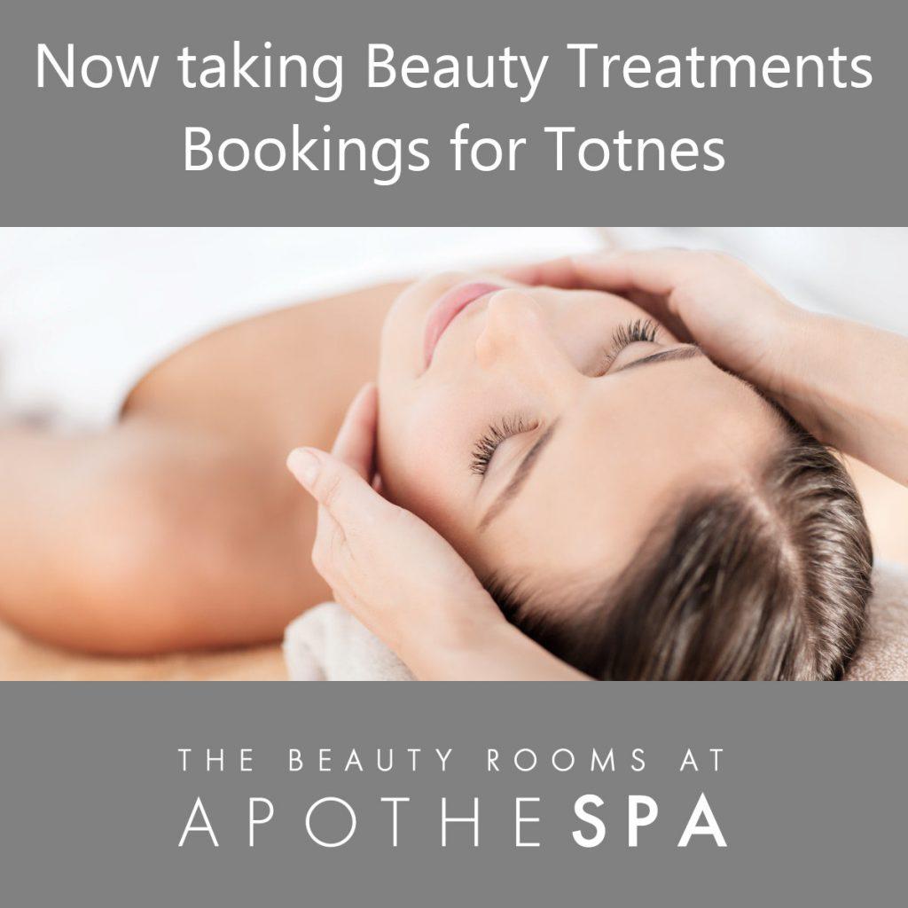 Now Taking Beauty Treatment Bookings in Totnes