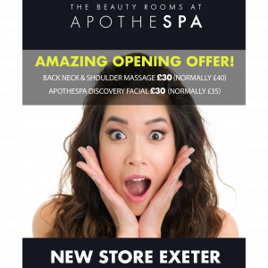 OFFER NOW ENDED – Amazing Opening Beauty Treatment Offers in Exeter