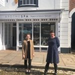 Lisa and Chloe in front of Apothespa Exeter