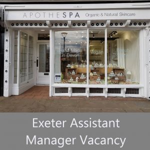 Exeter Shop Vacancy – Assistant Manager – Part Time
